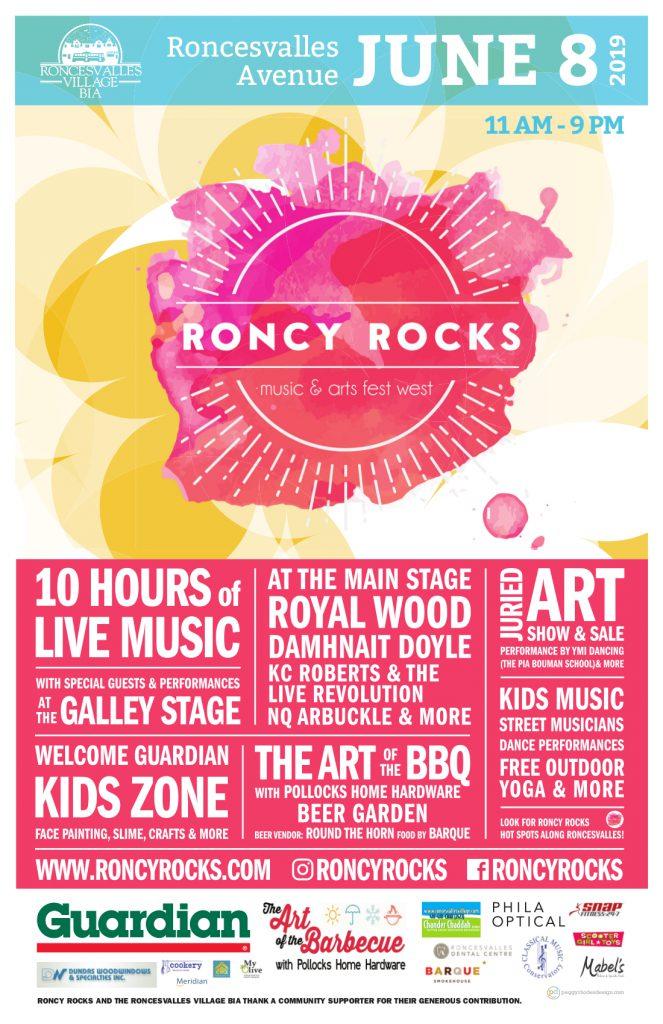 Roncy Rocks 2019 Poster