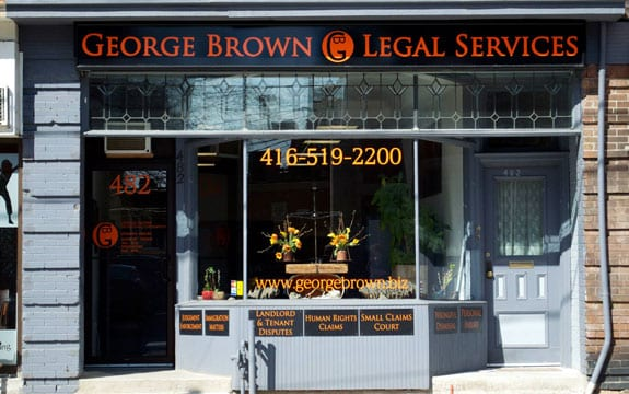 George Brown Paralegal Services Exterior