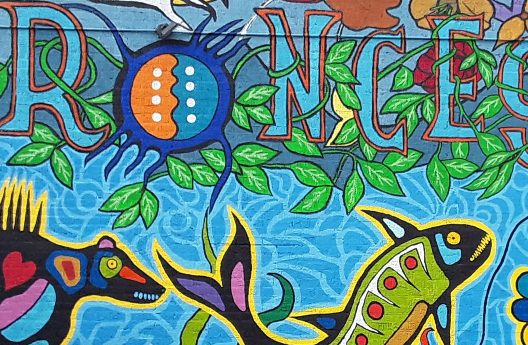 Woodlands style mural by Philip Cote
